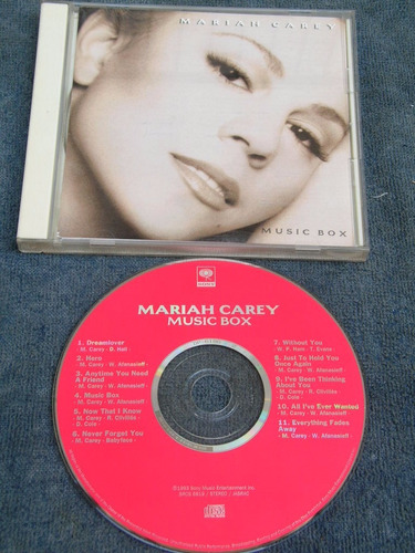 cd japonês maria carey - music box com obi