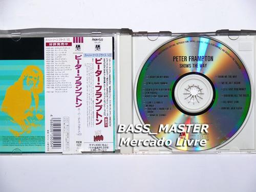cd japonês peter frampton - shows the way com obi