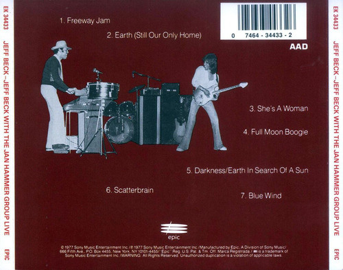 cd jeff beck - jeff beck with the jan hammer group live 1977