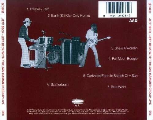 cd - jeff beck with the jan hammer group live 1977
