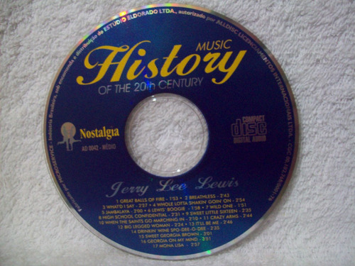 cd jerry lee lewis- music history of the 20th century