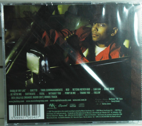 cd j.holiday back of my lac black funk pop regaee lacrado