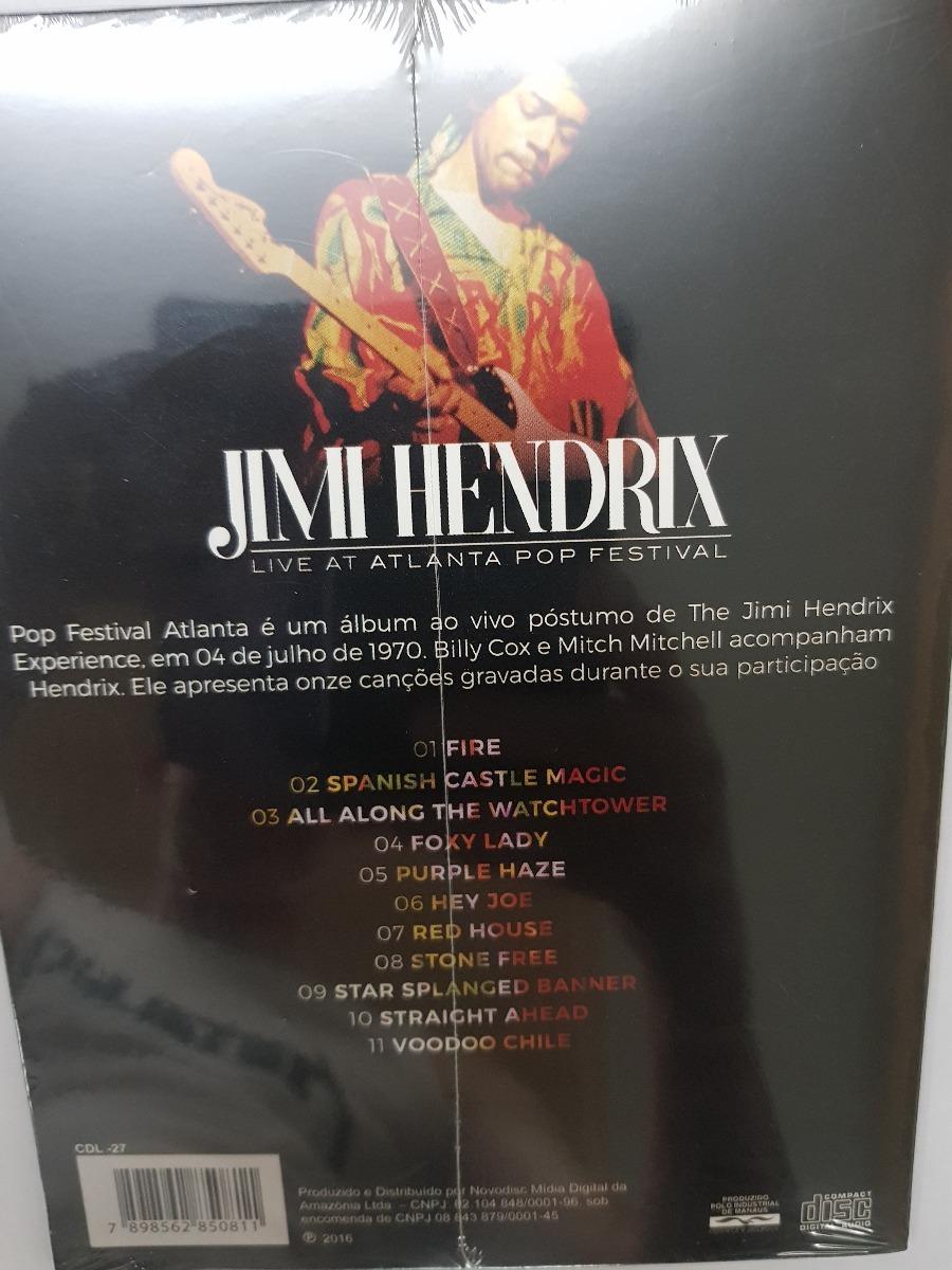 Cd Jimi Hendrix - Atlanta Festival 1970 - Lacrado