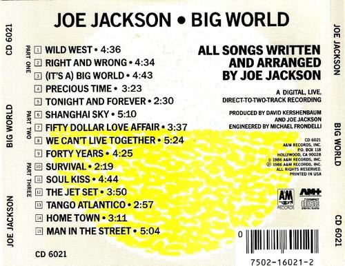 cd -  joe jackson - big world