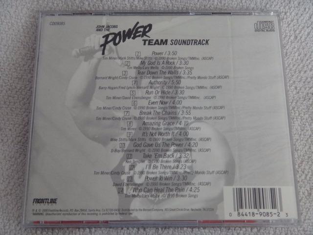 Cd -john Jacobs E The Power Team - Soundtrack - 1990 - Rap