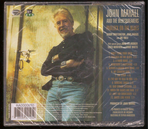 cd john mayall and the bluesbreakers - padlock on the blues