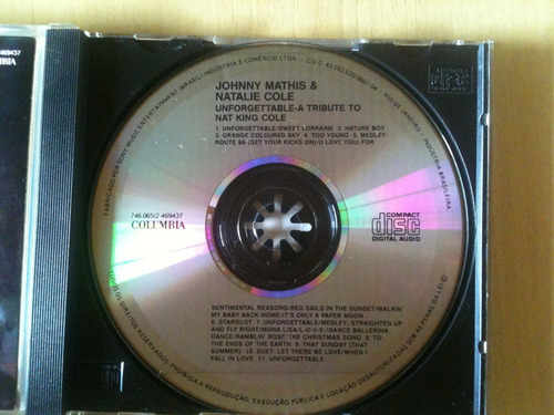 cd johnny mathis/unforgettable