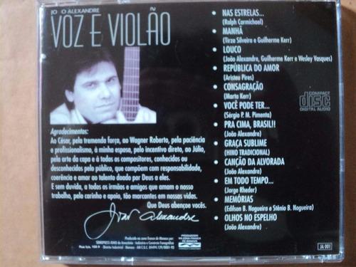cd - joão alexandre: voz e violão(1996)