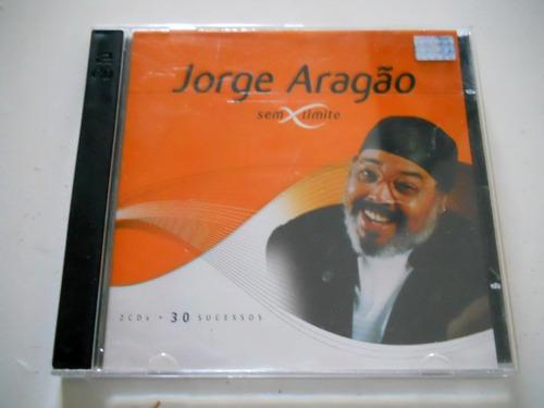 cd jorge aragão - sem limite (duplo) 30 sucessos originais
