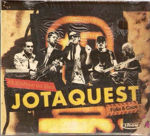 cd jota quest - folia e caos multishow (original e lacrado)