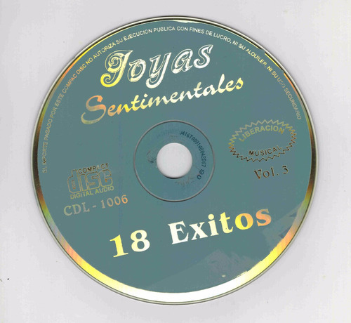 cd joyas sentimentales. vol 3