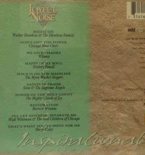 cd joyful noise - inspirational lifestyles ii - importado