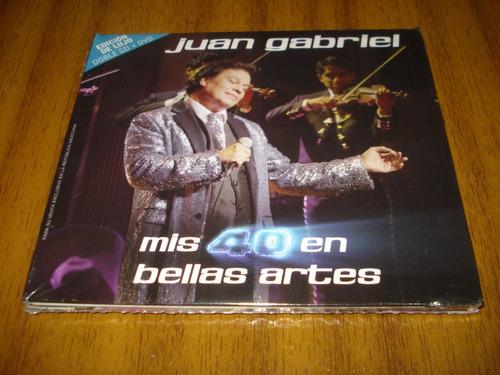 cd juan gabriel / mis 40 en bellas..(nuevo sellado) 2 cd+dvd