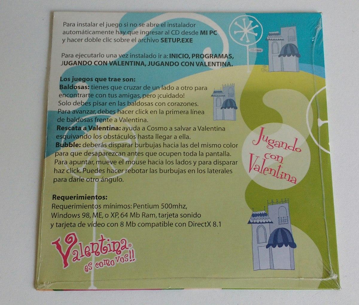 Cd Juegos Pc Windows 98 Jugando Con Valentina Infantil 80 00