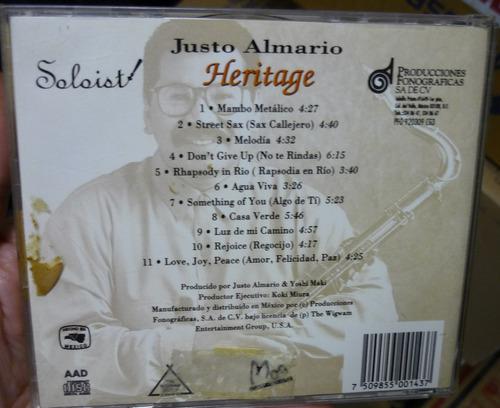 cd  justo  almari  /  heritage  -  importado  - b311