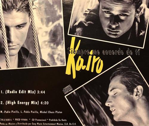 cd kairo siempre me acuerdo de ti promo