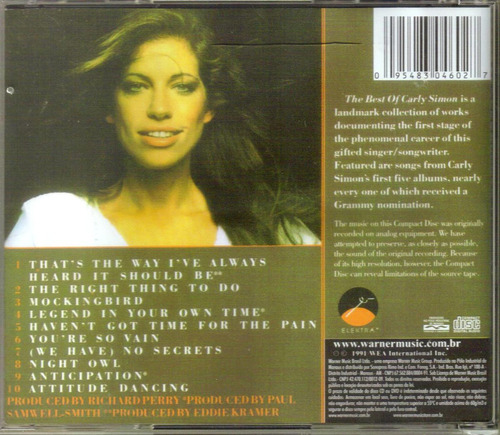 cd karly simon - the best of