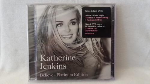cd katherine junkins - believe - platinum - duplo - lacrado