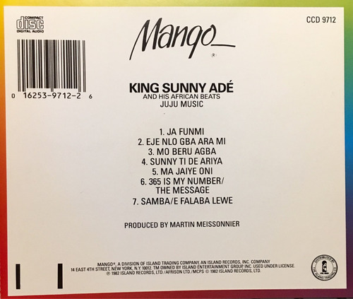 cd king sunny ade and his african beats juju music
