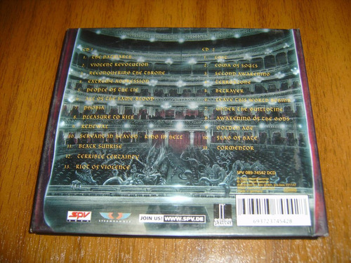 cd kreator / live kreation (made in germany 2003) doble cd