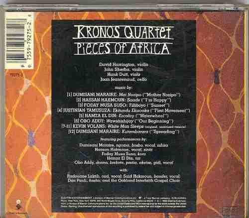 cd kronos quartet /pieces of africa/