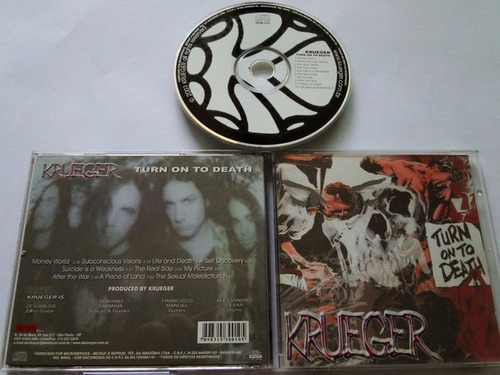 cd krueger - turn on to death - lacrado - produto original