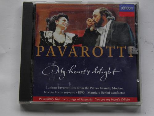 cd l pavarotti my heart's delight import