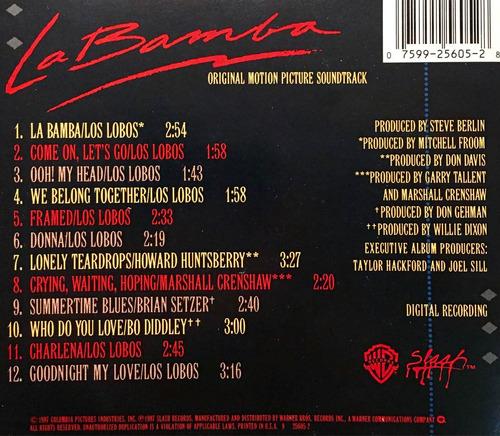 cd la bamba soundtrack importado de estados unidos