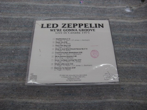 cd: led zeppelin: we're gonna groove