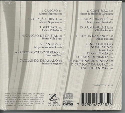 cd lenine santos & achille picchi- canção, lacrado digipack