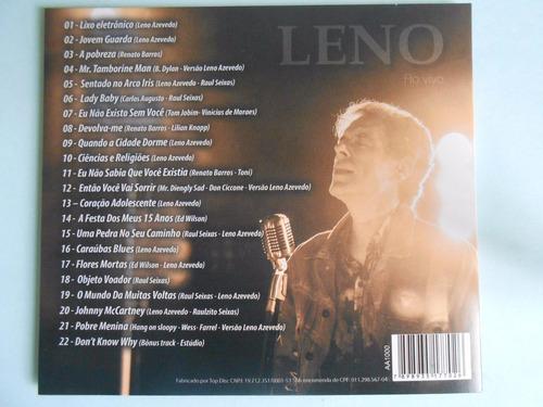 cd. leno-ao vivo-lançamento.2017-tiragem limitada-22 músic.