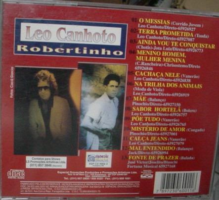 cd  leo canhoto  e  robertinho  1995  /  b314
