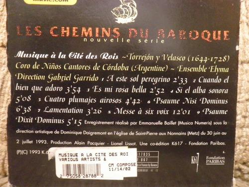 cd les chemins du baroque 5: musique a la cite des rois