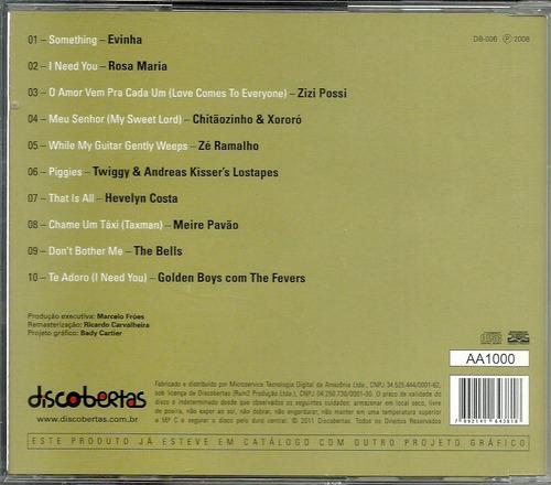 cd letra & música (homenagem brasileira) a george harrison