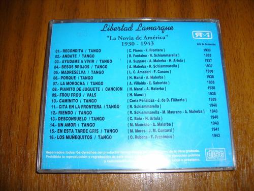 cd libertad lamarque / grabaciones originales 1930-1943