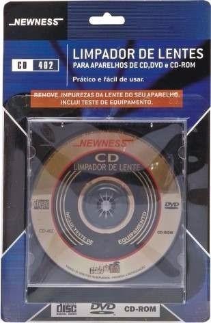 cd limpador limpa lentes newness - aparelho cd dvd
