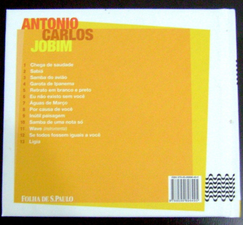 cd + livreto - antonio carlos jobim - coleção folha 50 anos