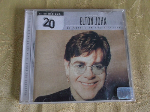 cd lo mejor de elton john, original, musica pop