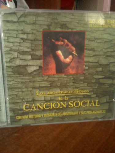 cd los años maravillosos de la canción social (cd doble)