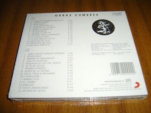 cd los jaivas / obras cumbres (nuevo y sellado) 2 cds