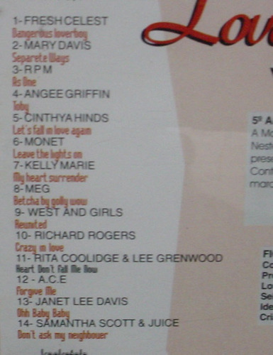 cd love line 5 band fm - charm, soul, black, funk - b20