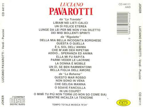cd luciano pavarotti - recital - importado