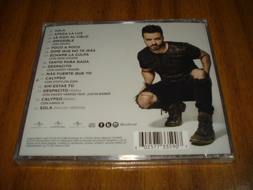 cd luis fonsi / vida  (nuevo y sellado)  despacito