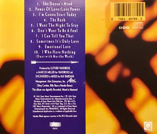 cd luther vandross power of love