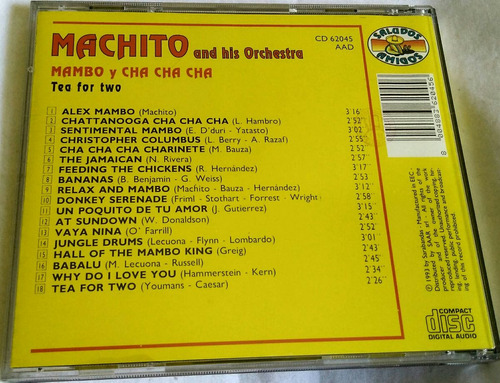 cd machito & his orchestra