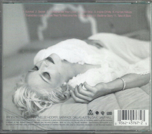 cd madonna - bed time stories - importado
