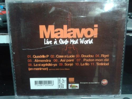 cd - malavoi - líve á club med world (promoção)