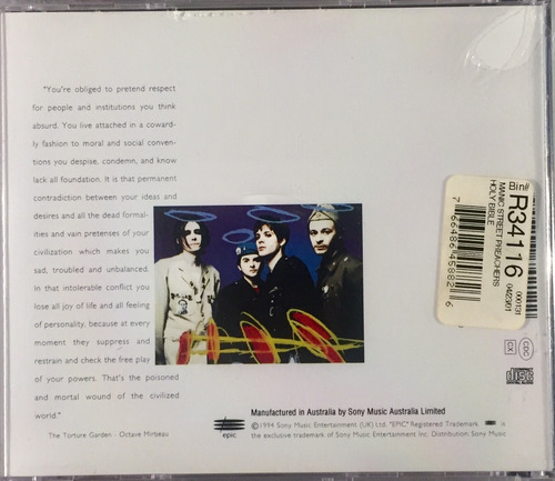 cd manic street preachers - the holy bible - import lacrado