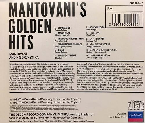 cd mantovanis golden hits importado de alemania