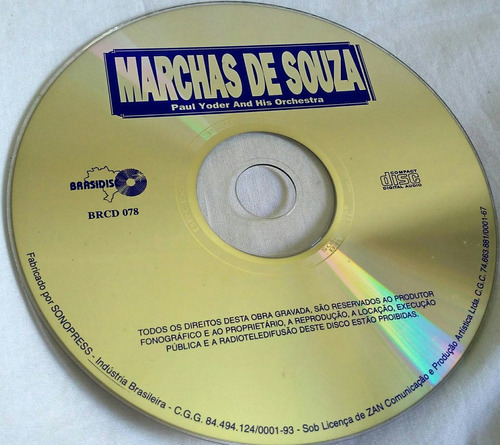 cd marchas de souza (paul yoder and his orchestra)